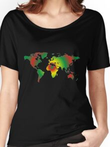 Psychedelic world map Women's Relaxed Fit T-Shirt