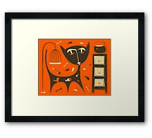 'Bad Cat' Framed Print
