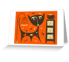 'Bad Cat' Greeting Card