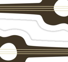 BIRDS ON A GUITAR STRING Sticker
