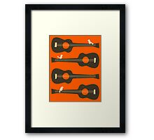 BIRDS ON A GUITAR STRING Framed Print