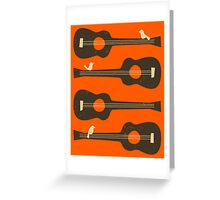 BIRDS ON A GUITAR STRING Greeting Card