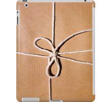 Brown paper package wrapped up in string iPad Case/Skin