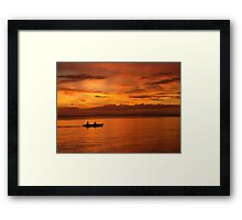 Philippine Sunset 1 Framed Print