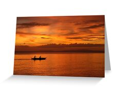 Philippine Sunset 1 Greeting Card