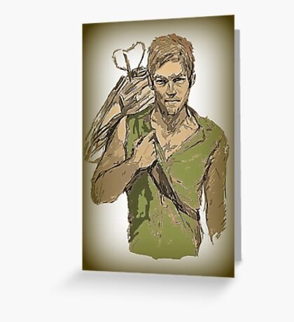Daryl Dixon The Walking Dead Greeting Card