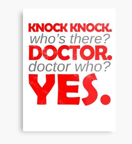 Knock knock. Doctor Who. Metal Print