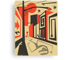 Little Red, Big City Canvas Print