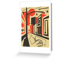 Little Red, Big City Greeting Card