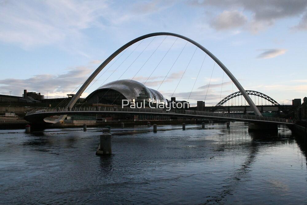 Gateshead Millenium Bridge at Sunset by Paul Clayton