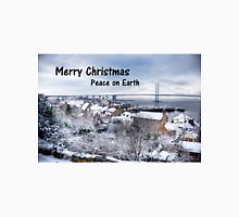 South Queensferry in the Snow - Christmas Card Unisex T-Shirt