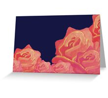 Chinoiserie Red Roses Vintage floral print Greeting Card