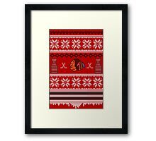 Hawksmas Sweater Framed Print