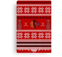Hawksmas Sweater Canvas Print