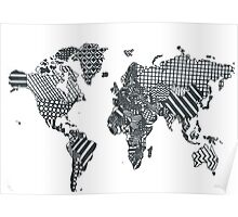 Patterned World Map Poster