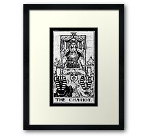 The Chariot Tarot Card - Major Arcana - fortune telling - occult Framed Print