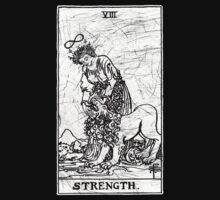 Strength Tarot Card - Major Arcana - fortune telling - occult by createdezign