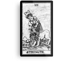 Strength Tarot Card - Major Arcana - fortune telling - occult Metal Print