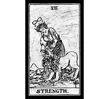 Strength Tarot Card - Major Arcana - fortune telling - occult Photographic Print