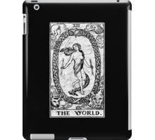 The World Tarot Card - Major Arcana - fortune telling - occult iPad Case/Skin