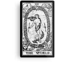 The World Tarot Card - Major Arcana - fortune telling - occult Metal Print