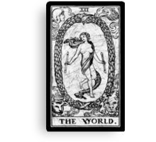 The World Tarot Card - Major Arcana - fortune telling - occult Canvas Print