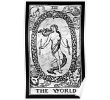 The World Tarot Card - Major Arcana - fortune telling - occult Poster