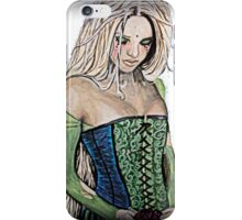 Mysterious Woman in a Green Dress iPhone Case/Skin