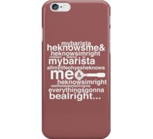 Barista Genesis iPhone Case/Skin
