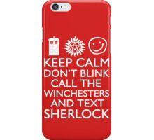SUPERWHOLOCK SUPERNATURAL DOCTOR WHO SHERLOCK iPhone Case/Skin