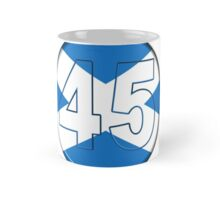 FREE SCOTLAND 45 Button Design Mug