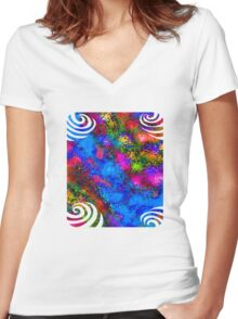 Paradise T-Shirt Design 1 Women's Fitted V-Neck T-Shirt