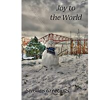 Snowman - Christmas Card Photographic Print