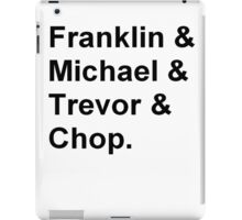 Franklin, Michael, Trevor and Chop from GTA iPad Case/Skin