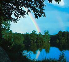 Rainbow over Dunn's Pond by Deborah-Jean McGonigal