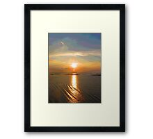 Cartoon Sunset Framed Print