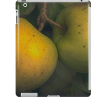 two apples on a tree iPad Case/Skin