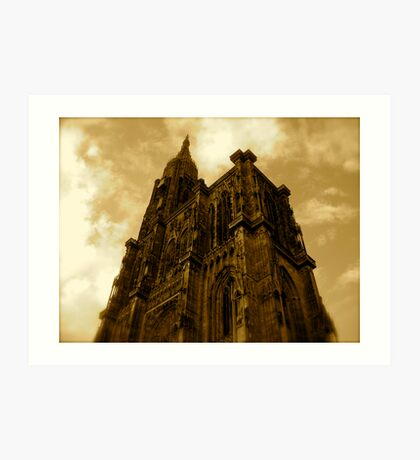 Strasbourg Cathedral - From Below Art Print