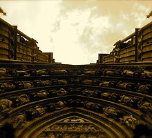 Strasbourg Cathedral - Above Door by Pamela Maxwell