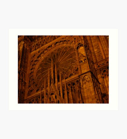 Strasbourg Cathedral - Grand Window Art Print