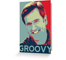 Bruce Campbell - Groovy Greeting Card