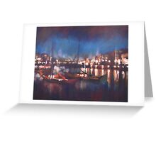 Evening Harbor Greeting Card