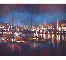 Evening Harbor Photographic Print