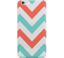 Chevrons design - grey, green & red iPhone Case/Skin