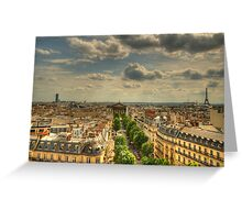 Paris Vista Greeting Card