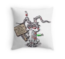 I Helped Test & Approve... Throw Pillow
