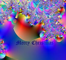 Merry Christmas-Fractal Art by Terry Krysak