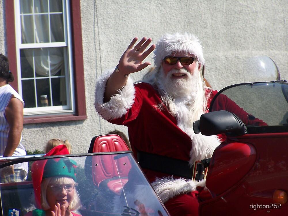 santa claus in a parade by righton262