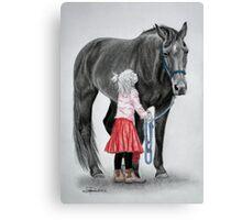"""Saying Goodbye to a Unicorn"" Canvas Print"