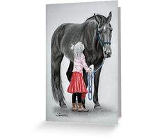 """Saying Goodbye to a Unicorn"" Greeting Card"